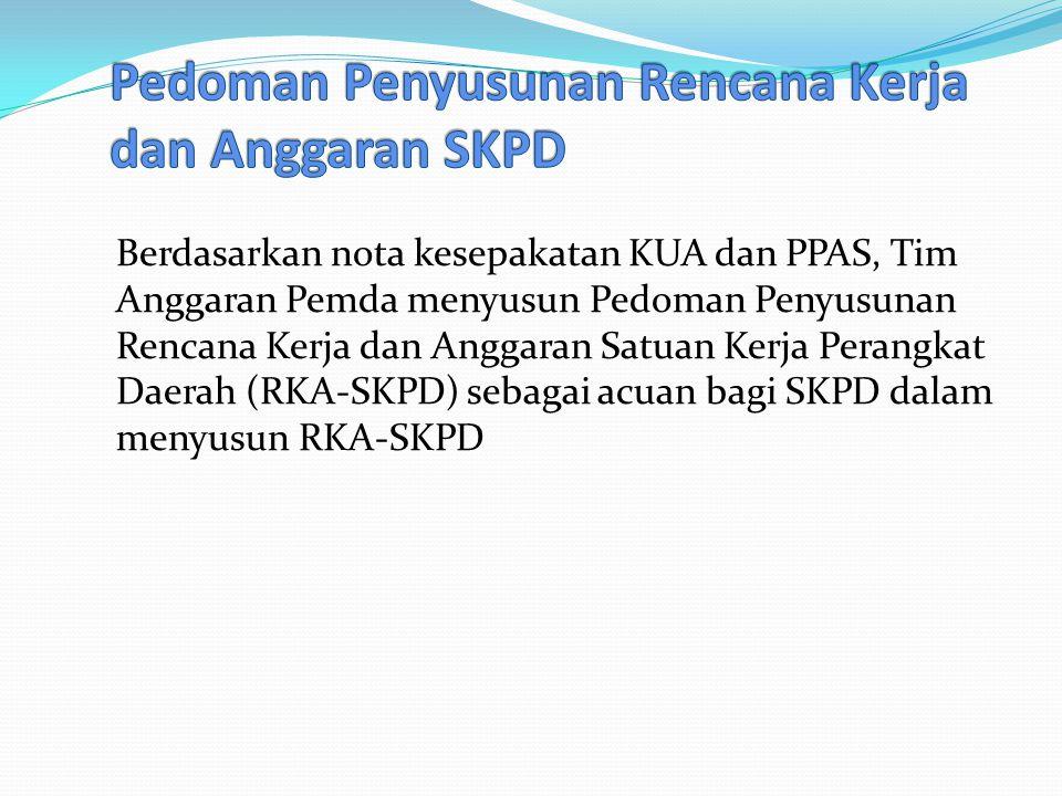 Pedoman Penyusunan Rencana Kerja dan Anggaran SKPD