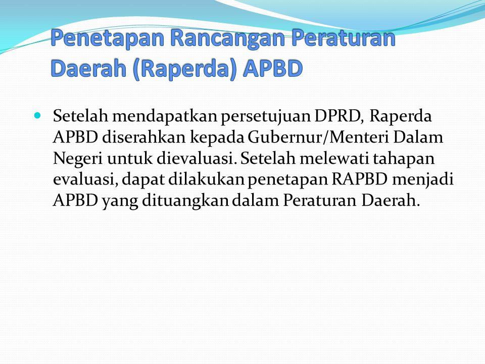 Penetapan Rancangan Peraturan Daerah (Raperda) APBD