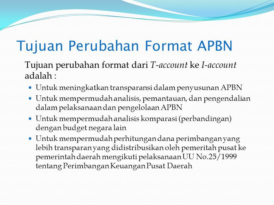 Tujuan Perubahan Format APBN