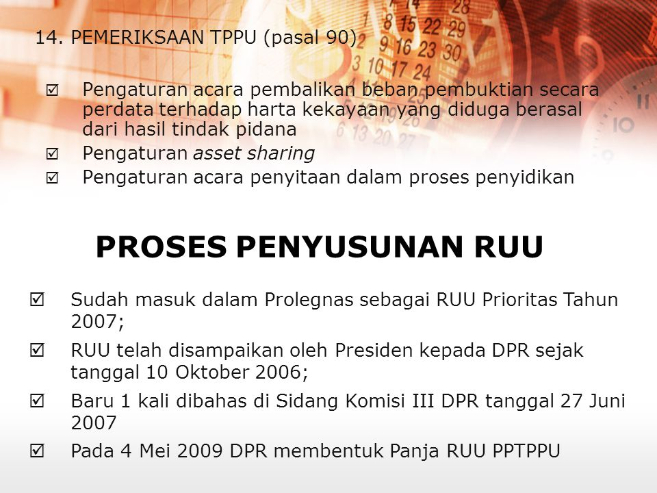 14. PEMERIKSAAN TPPU (pasal 90)