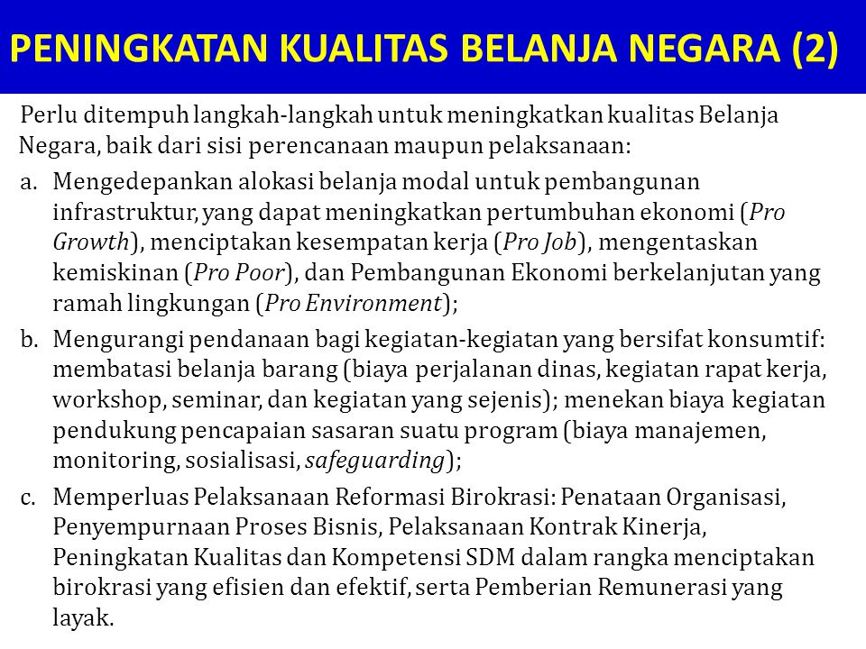 PENINGKATAN KUALITAS BELANJA NEGARA (2)