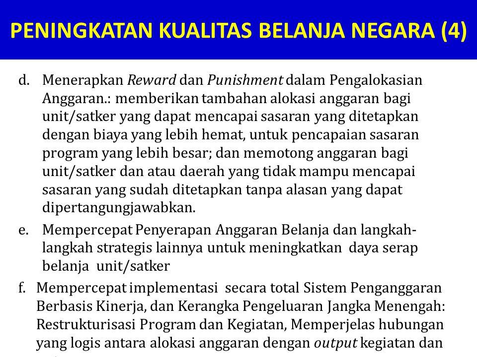 PENINGKATAN KUALITAS BELANJA NEGARA (4)