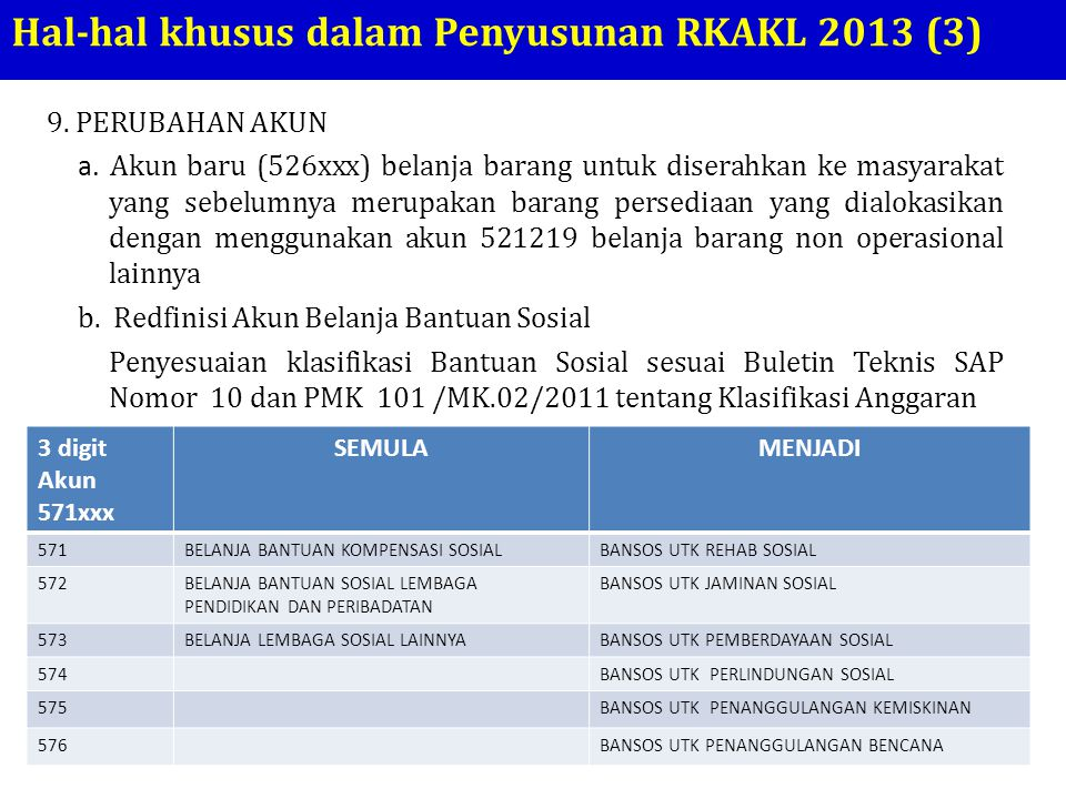 Hal-hal khusus dalam Penyusunan RKAKL 2013 (3)