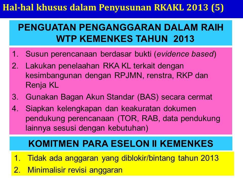 Hal-hal khusus dalam Penyusunan RKAKL 2013 (5)