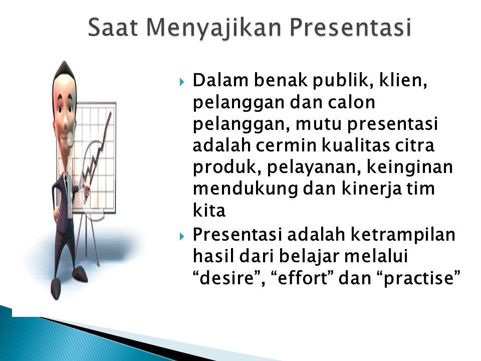 Saat Menyajikan Presentasi