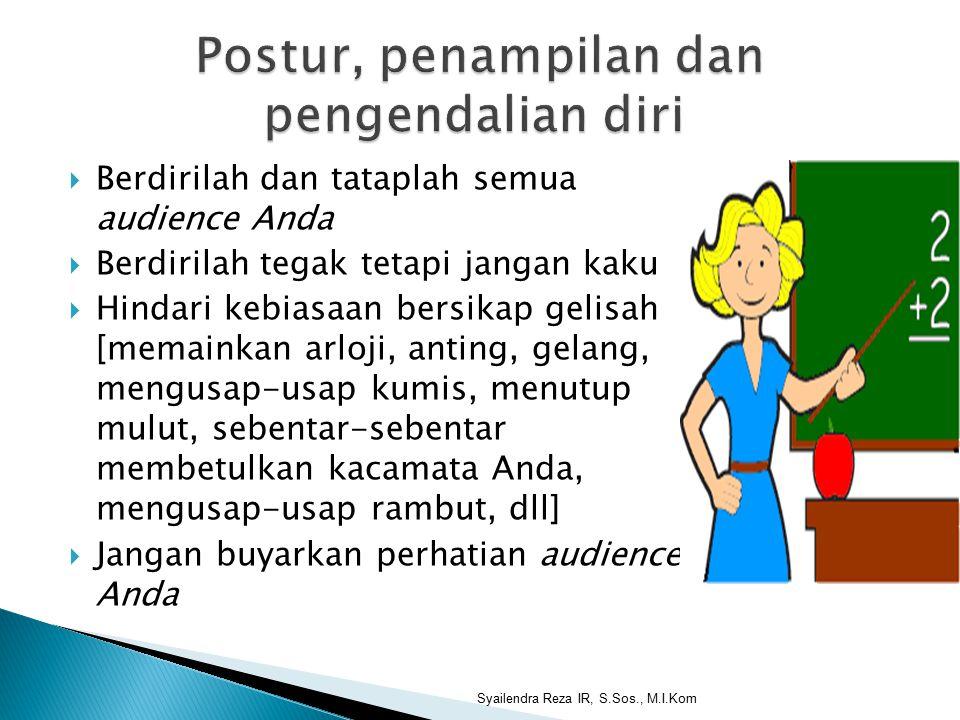 Postur, penampilan dan pengendalian diri