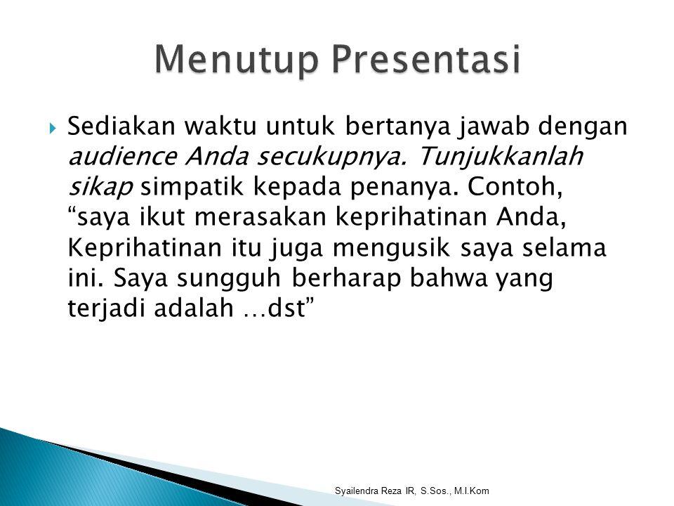 Menutup Presentasi
