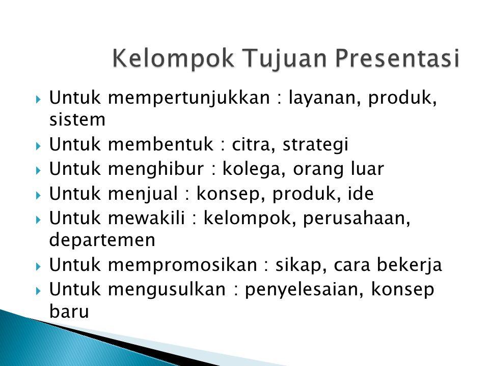 Kelompok Tujuan Presentasi