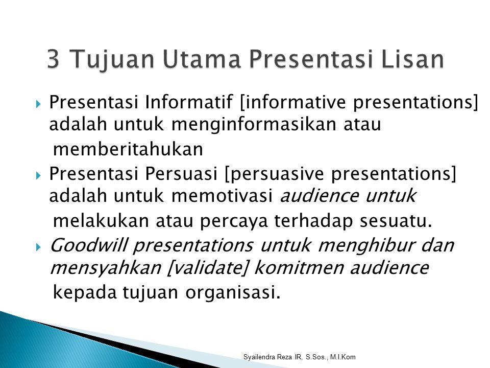 3 Tujuan Utama Presentasi Lisan