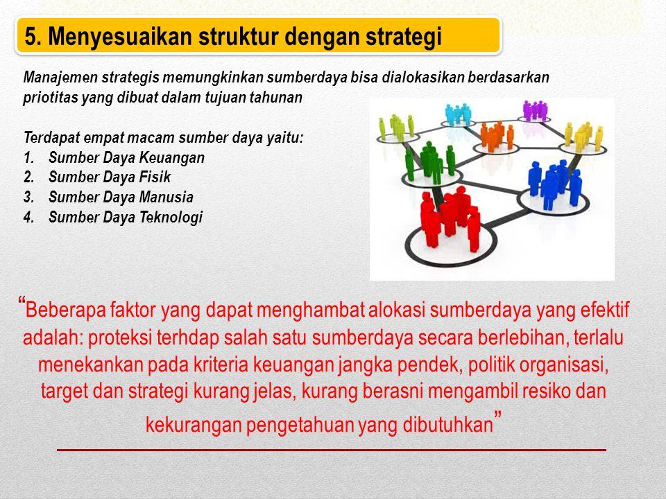 5. Menyesuaikan struktur dengan strategi