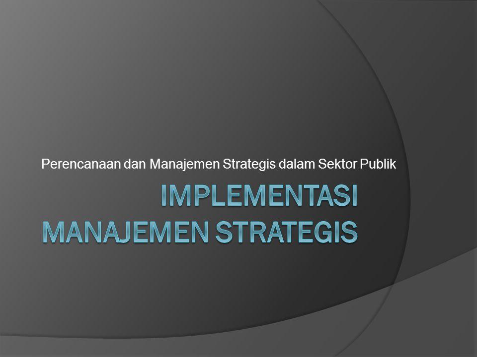 Implementasi manajemen strategis