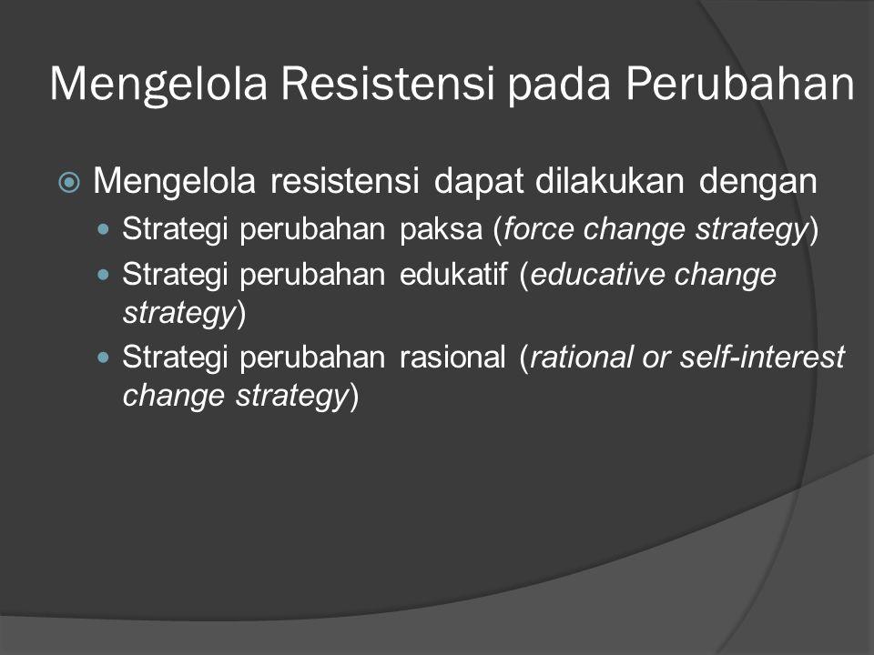 Mengelola Resistensi pada Perubahan