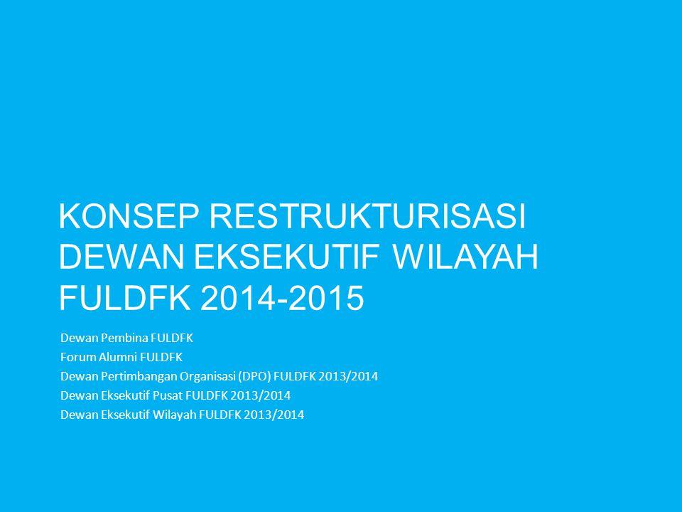 Konsep Restrukturisasi DEWAN EKSEKUTIF WILAYAH FULDFK 2014-2015