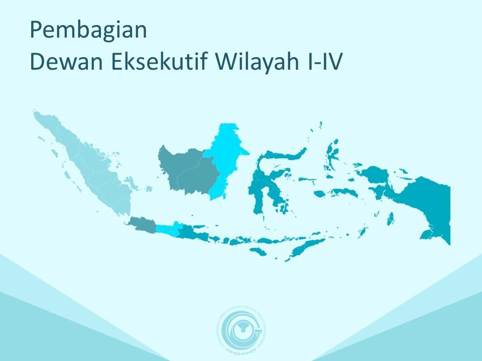 Pembagian Dewan Eksekutif Wilayah I-IV