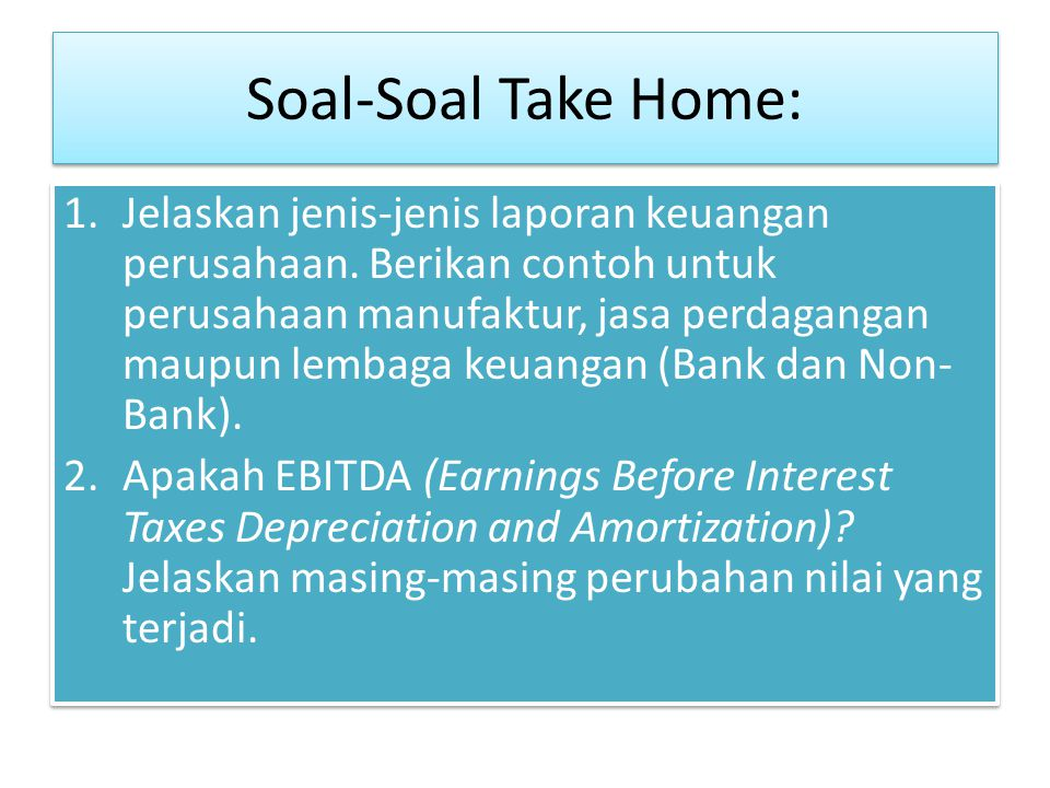 Soal-Soal Take Home: