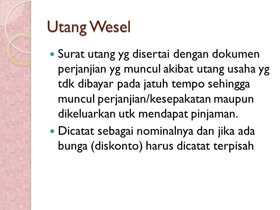 Utang Wesel