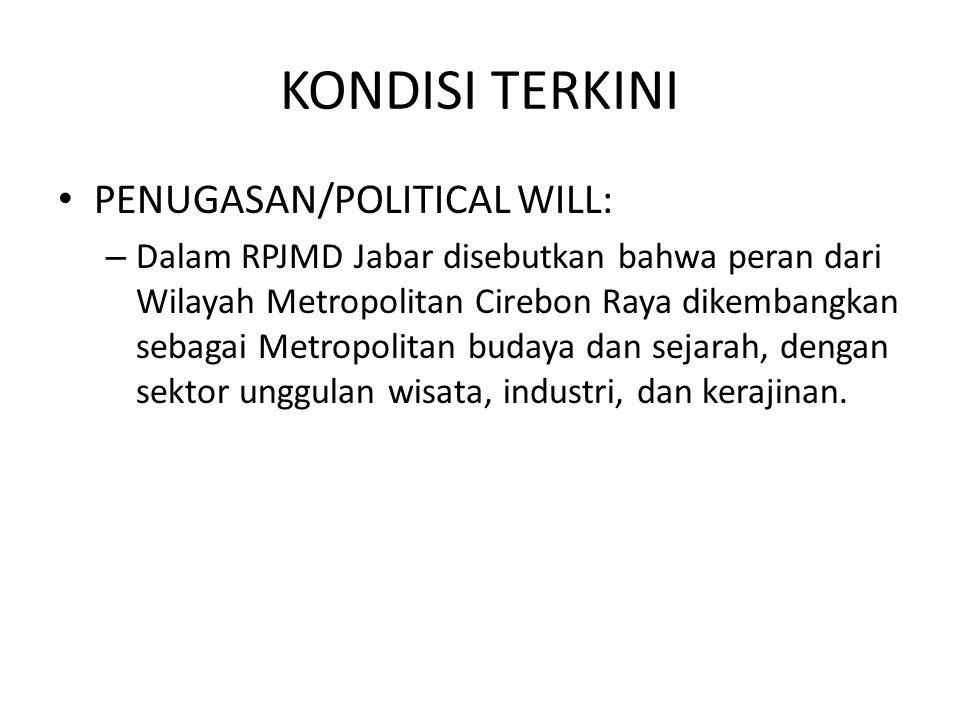 KONDISI TERKINI PENUGASAN/POLITICAL WILL: