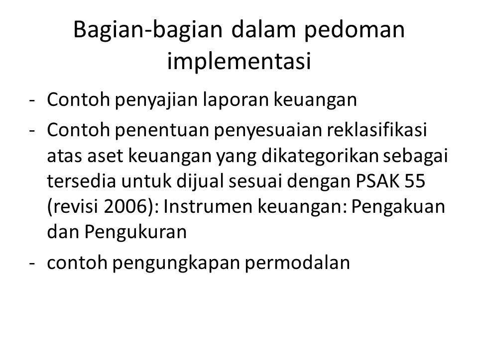 Bagian-bagian dalam pedoman implementasi