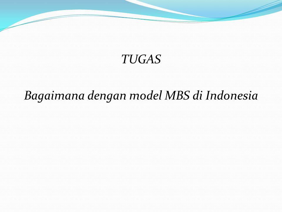 Bagaimana dengan model MBS di Indonesia