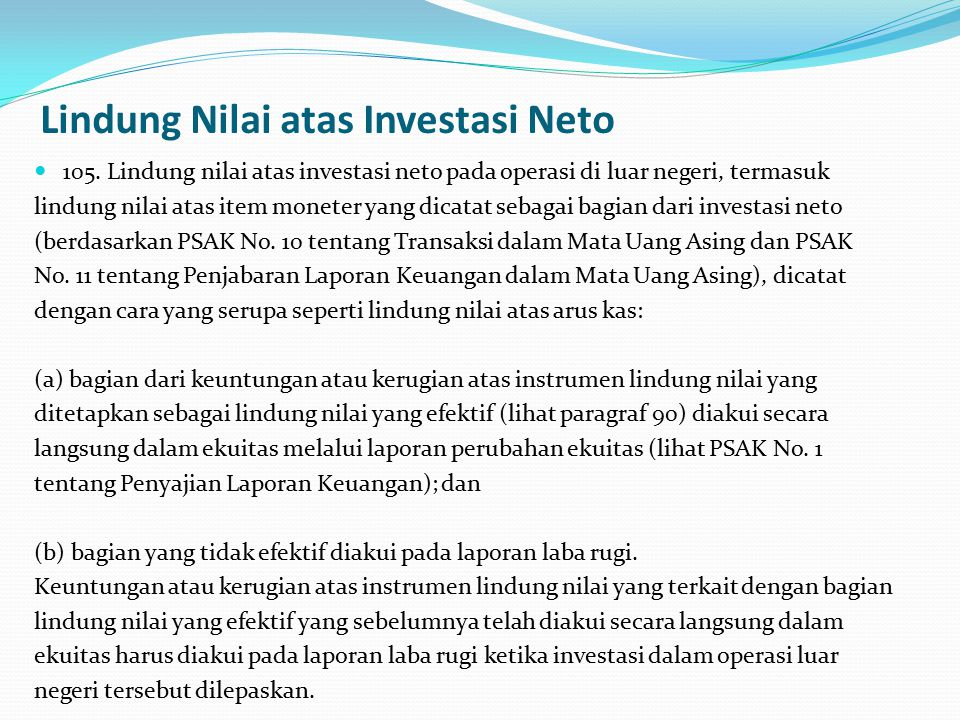 Lindung Nilai atas Investasi Neto