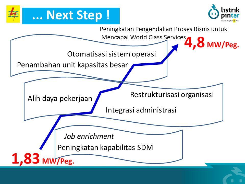 4,8 MW/Peg. 1,83 MW/Peg. ... Next Step ! Otomatisasi sistem operasi