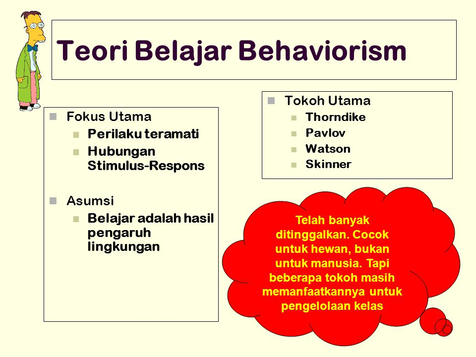 Teori Belajar Behaviorism