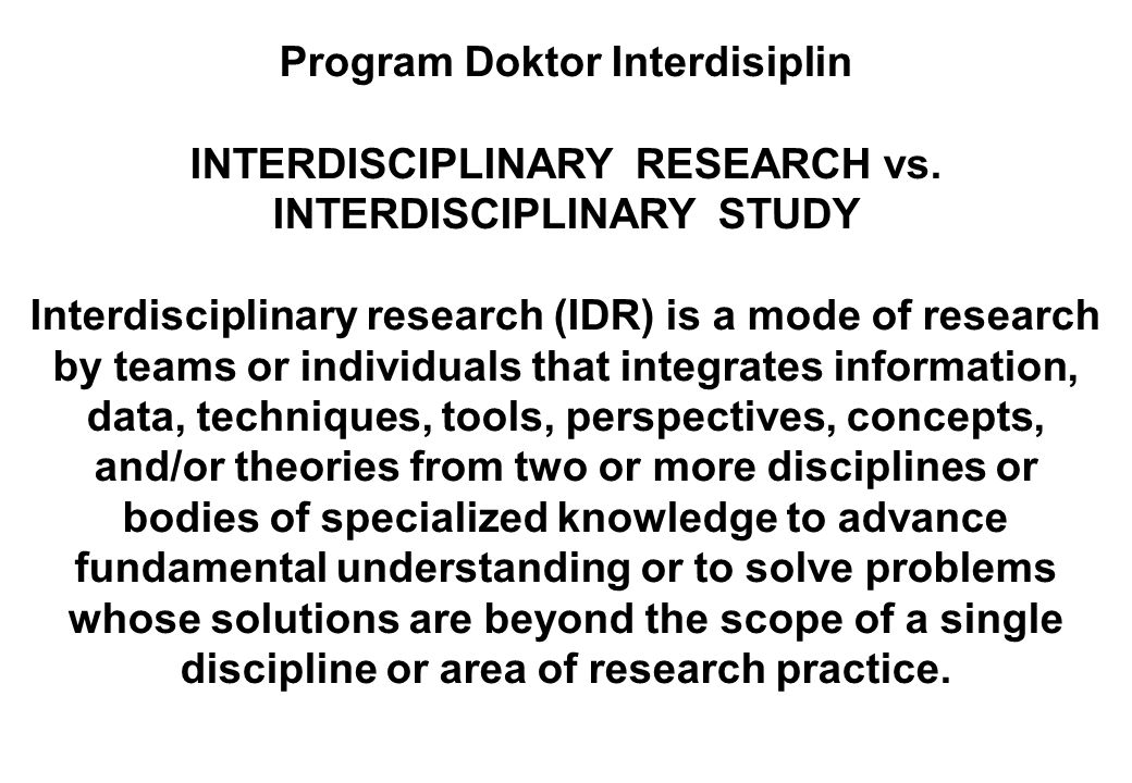 Program Doktor Interdisiplin
