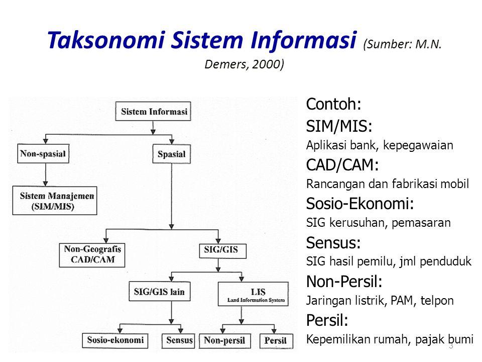 Taksonomi Sistem Informasi (Sumber: M.N. Demers, 2000)
