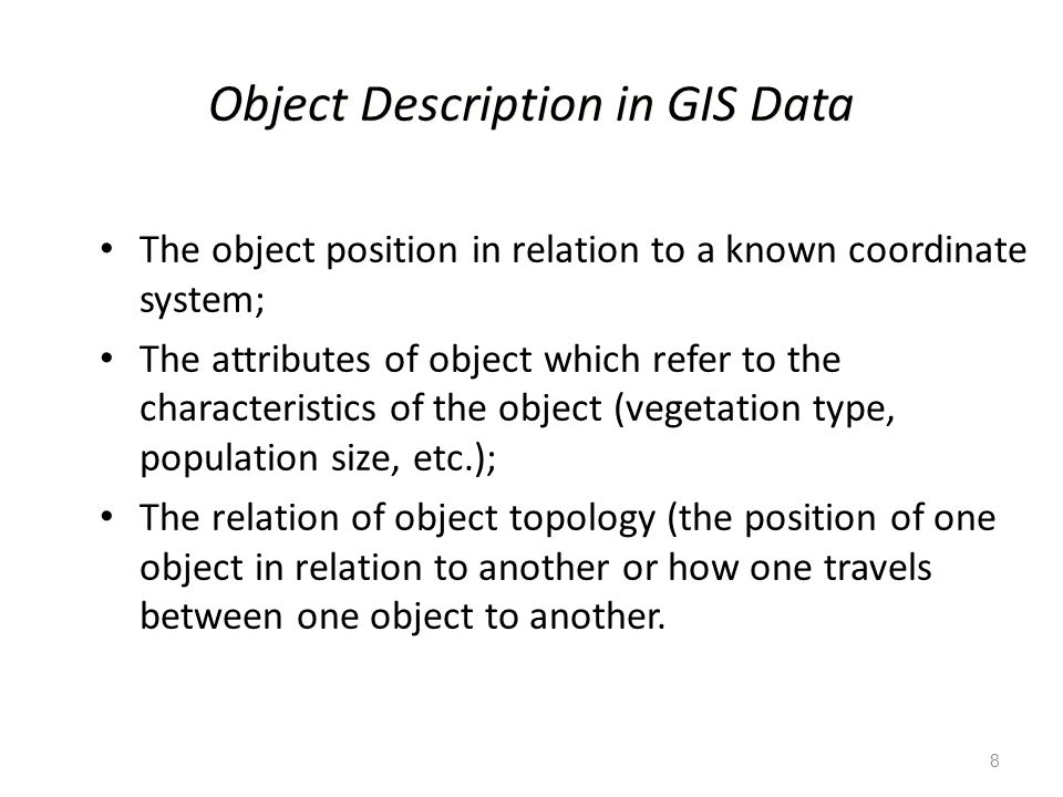 Object Description in GIS Data
