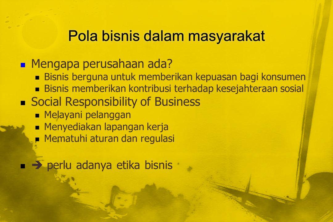 Pola bisnis dalam masyarakat