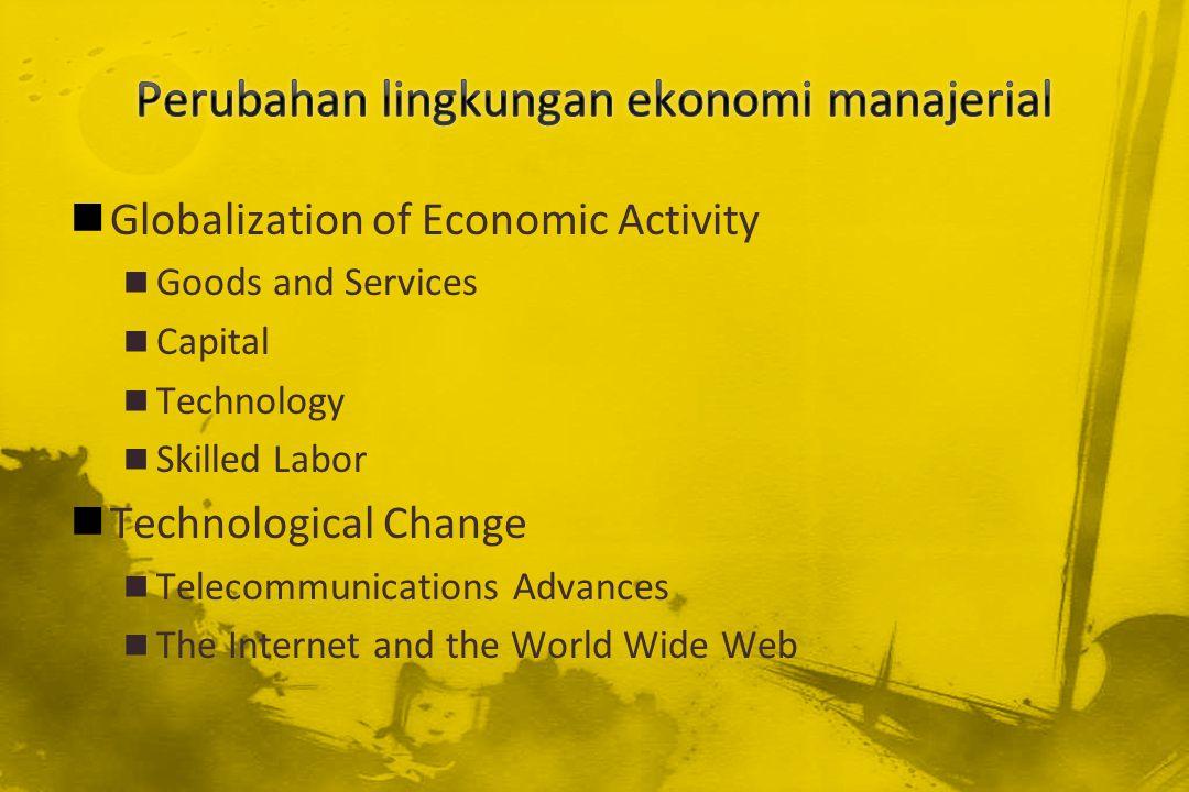 Perubahan lingkungan ekonomi manajerial