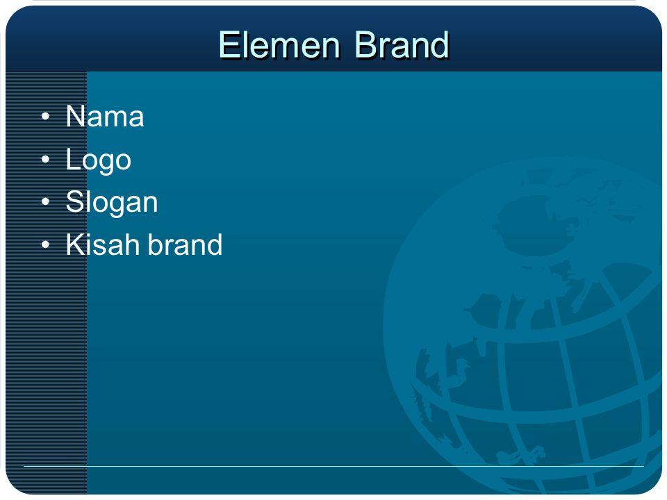 Elemen Brand Nama Logo Slogan Kisah brand
