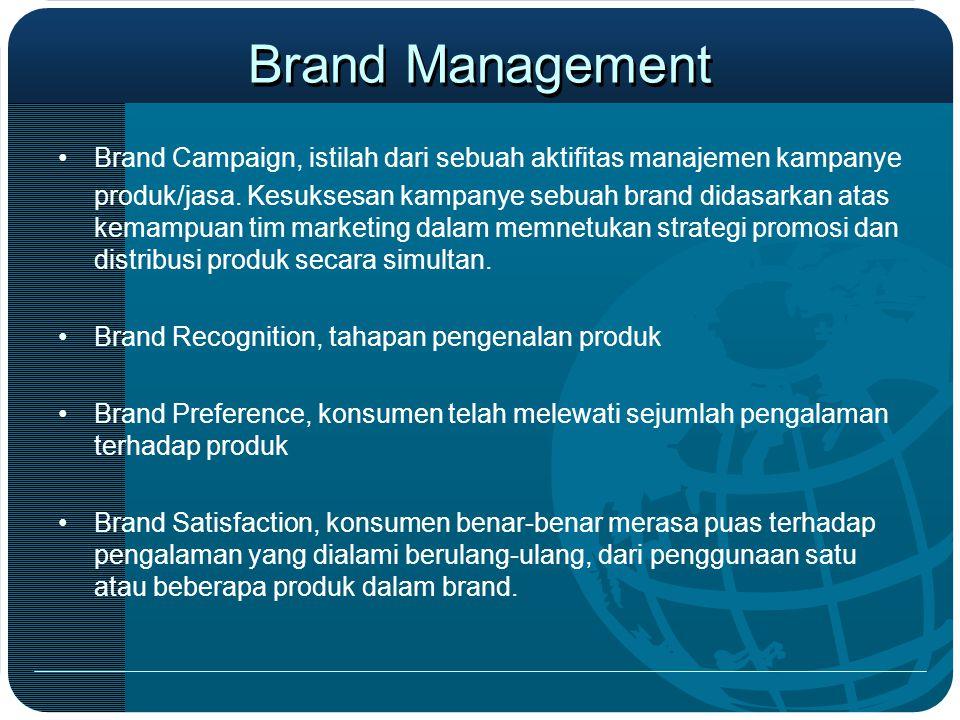 Brand Management Brand Campaign, istilah dari sebuah aktifitas manajemen kampanye.