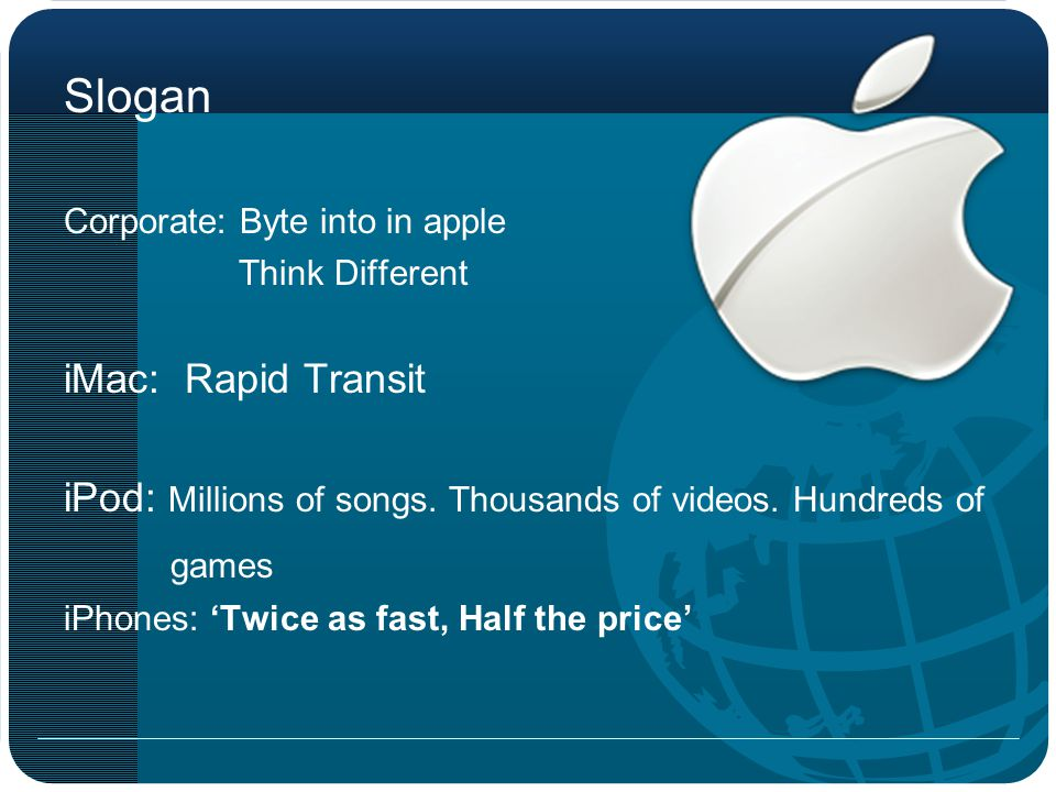 Slogan iMac: Rapid Transit