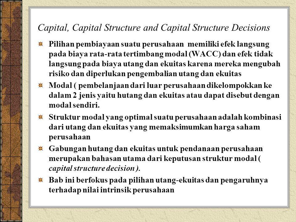 Capital, Capital Structure and Capital Structure Decisions