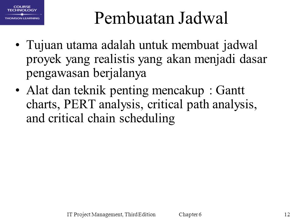 IT Project Management, Third Edition Chapter 6