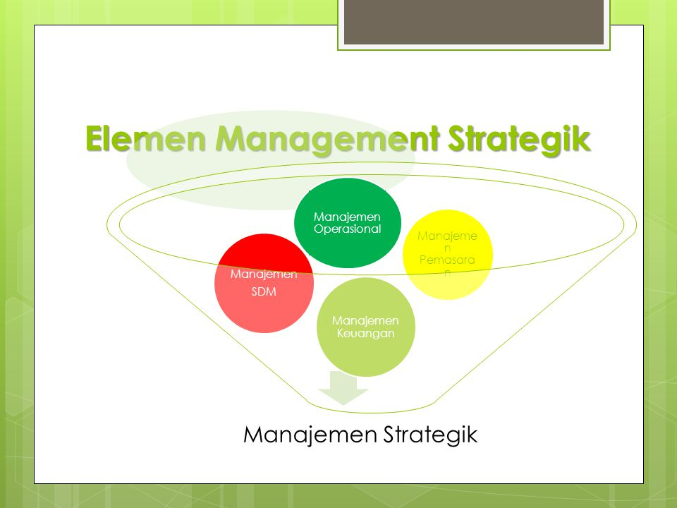 Elemen Management Strategik