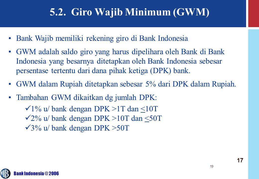 5.2. Giro Wajib Minimum (GWM)