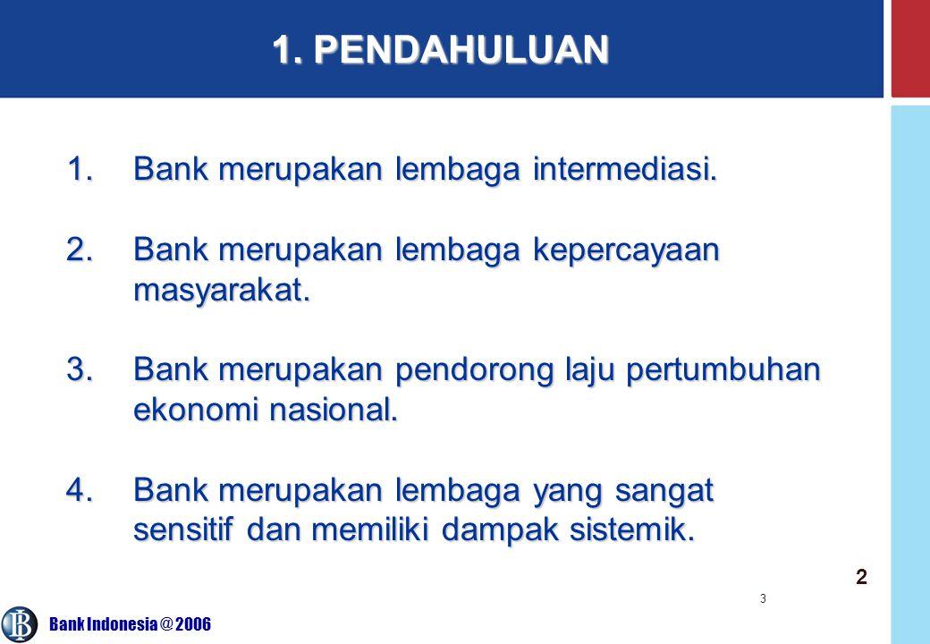 1. PENDAHULUAN Bank merupakan lembaga intermediasi.