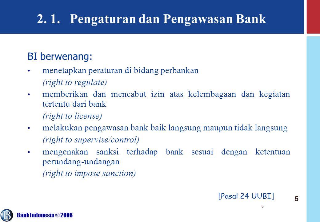 2. 1. Pengaturan dan Pengawasan Bank