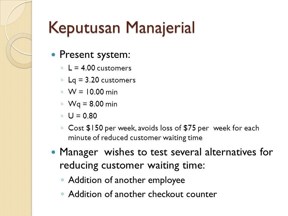 Keputusan Manajerial Present system: