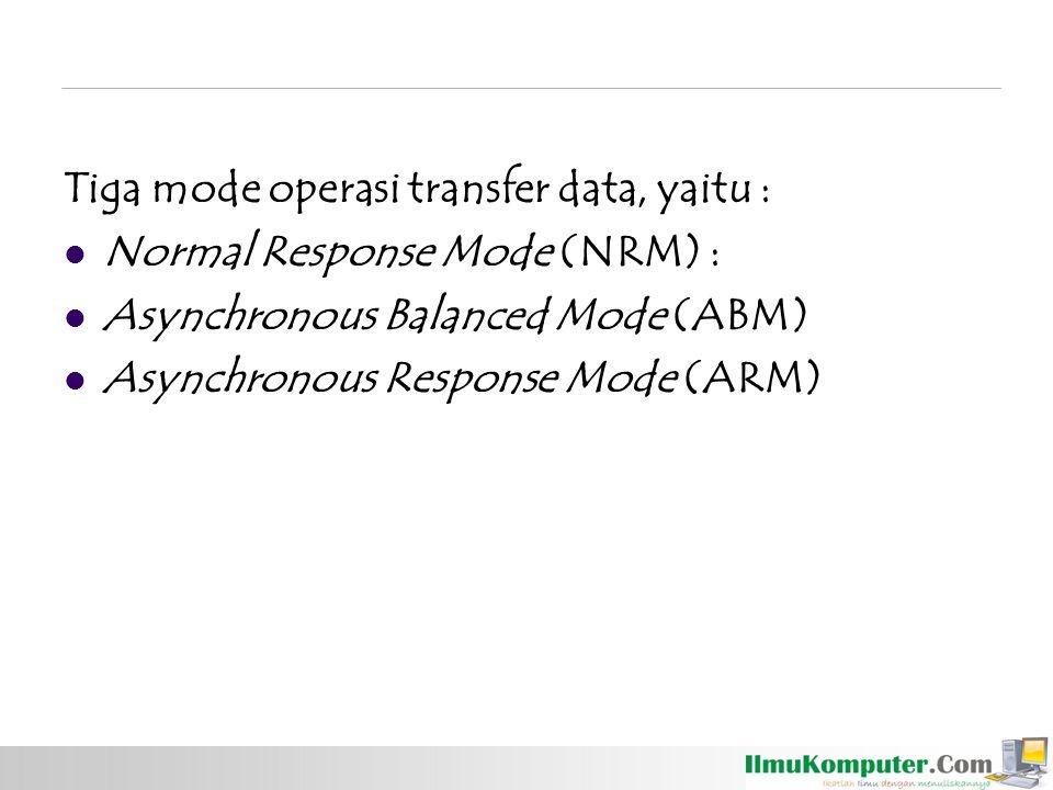 Tiga mode operasi transfer data, yaitu :