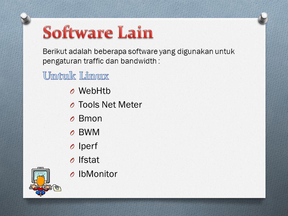 Software Lain Untuk Linux WebHtb Tools Net Meter Bmon BWM Iperf Ifstat