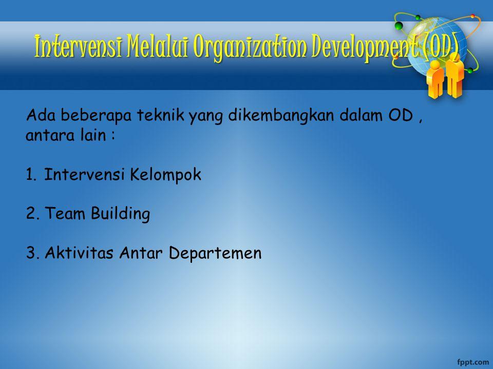 Intervensi Melalui Organization Development (OD)