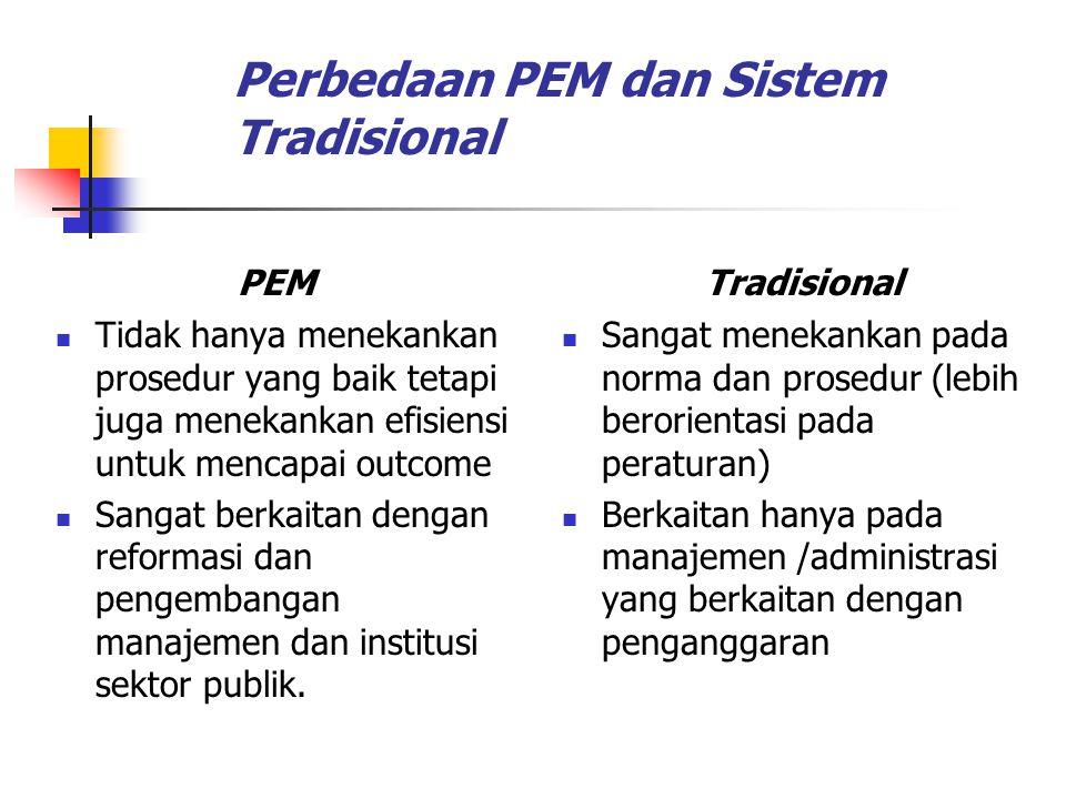Perbedaan PEM dan Sistem Tradisional