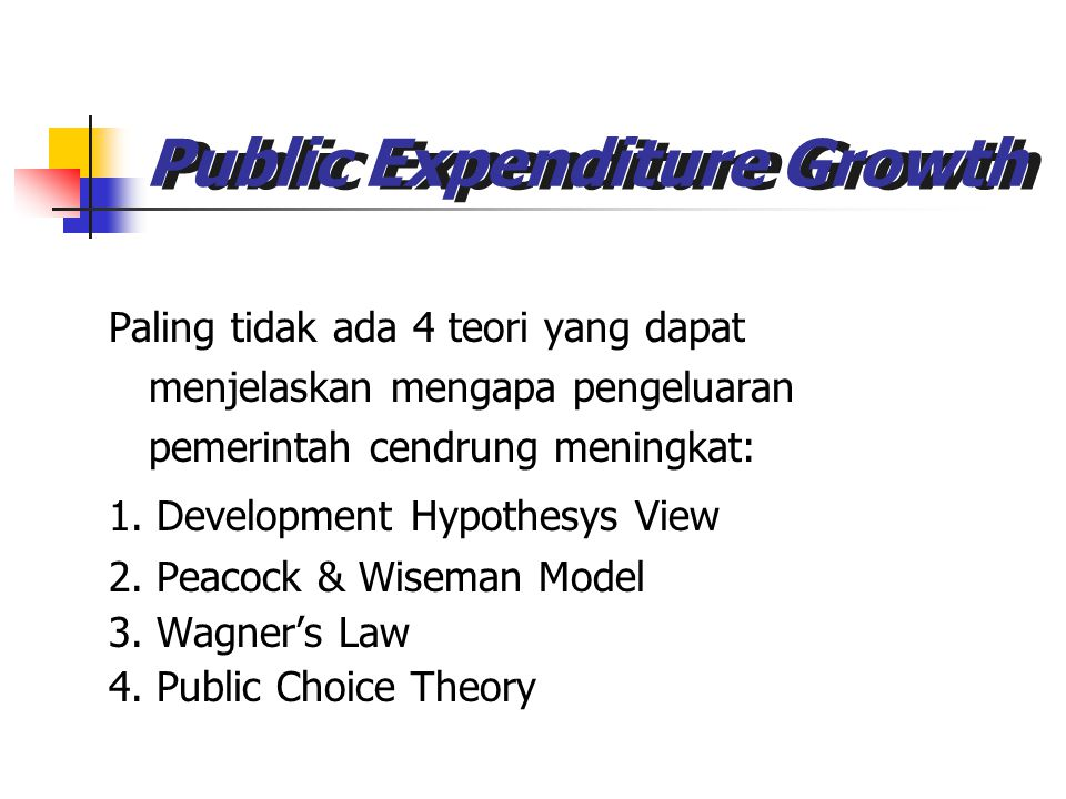 theory of public expenditure