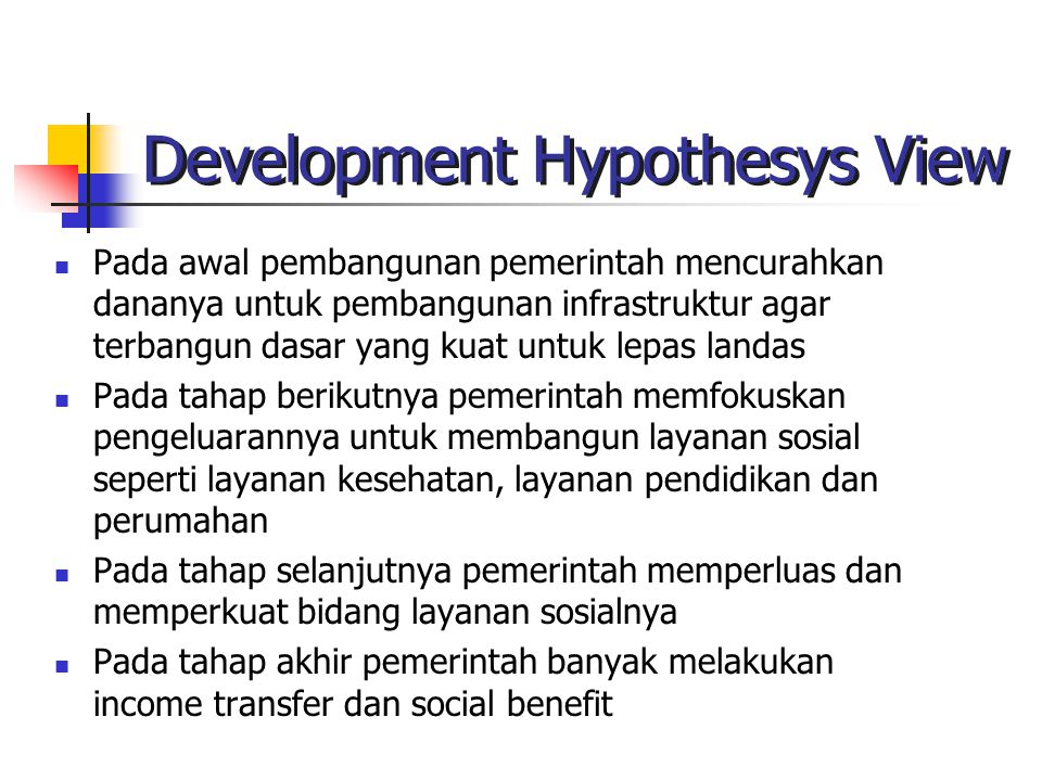 Development Hypothesys View