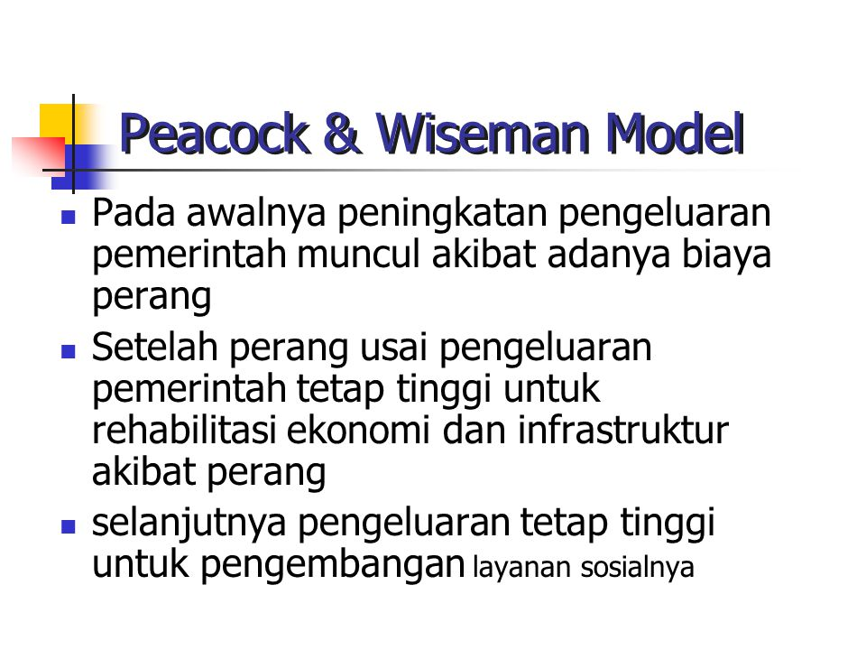 Peacock & Wiseman Model