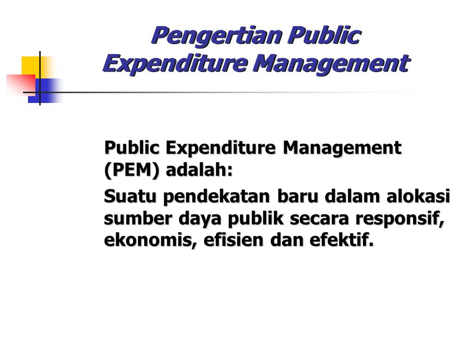 Pengertian Public Expenditure Management