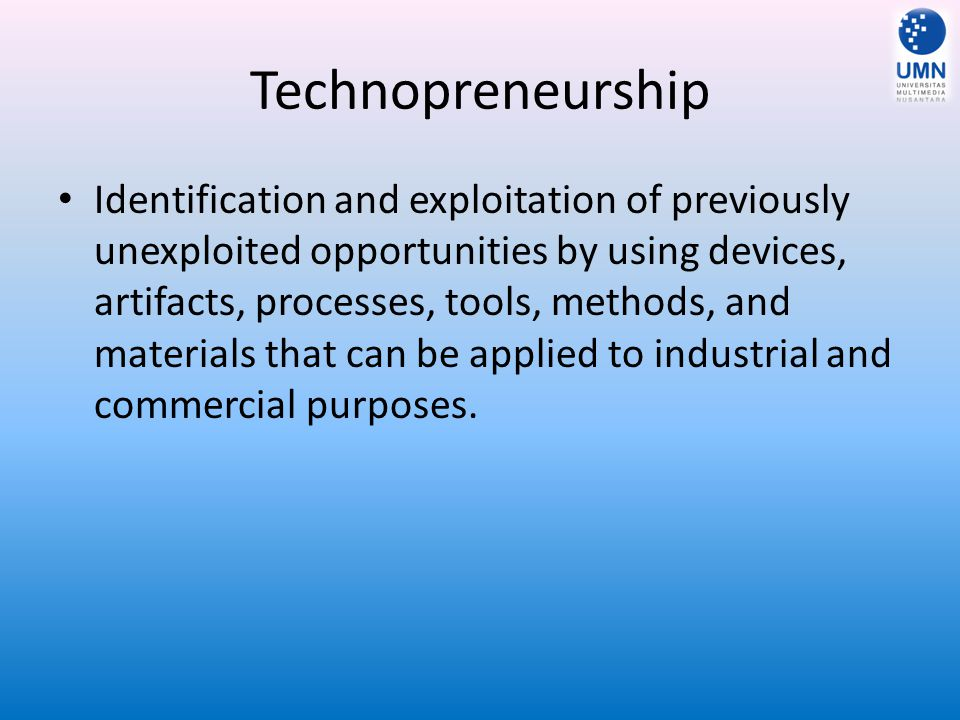 Technopreneurship
